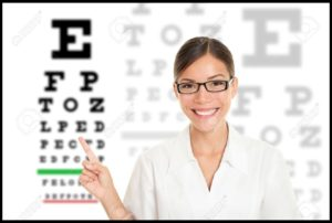 10437900-optician-or-optometrist-pointing-at-snellen-eye-exam-chart-woman-eye-doctor-wearing-glasses-on-white-stock-photo